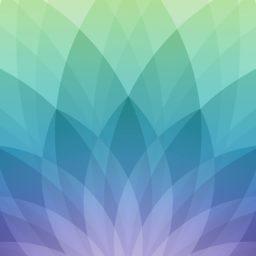 Pola Apel acara semi, hijau, dan biru ungu iPad / Air / mini / Pro Wallpaper