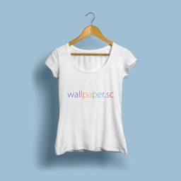 wallpaper.sc T-shirt biru muda iPad / Air / mini / Pro Wallpaper