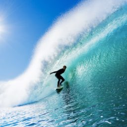 pemandangan surfing laut biru iPad / Air / mini / Pro Wallpaper