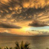 Pemandangan senja awan Kukai