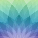 Pola Apel acara semi, hijau, dan biru ungu