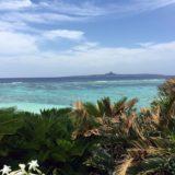 pemandangan laut langit biru tropis