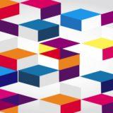 Pola abu 3D warna-warni
