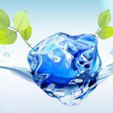 daun air biru sejuk