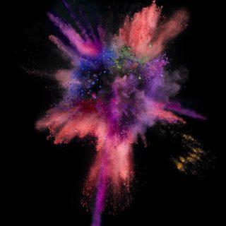 Meledak merah dan hitam berwarna-warni keren iOS9 iPhone4s Wallpaper