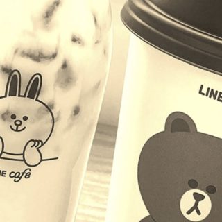 LINE kafe iPhone5s / iPhone5c / iPhone5 Wallpaper