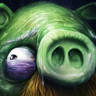 Chara hijau babi iPhone5s / iPhone5c / iPhone5 Wallpaper