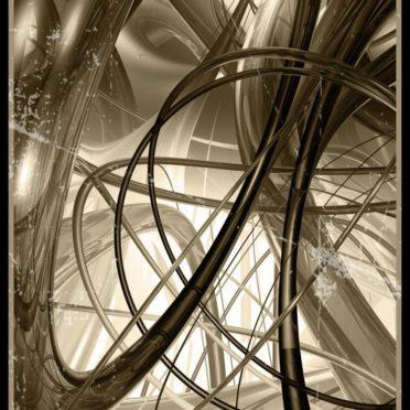 Spiral Coklat iPhone6s / iPhone6 Wallpaper