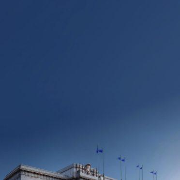 Bangunan lanskap biru iPhone7 Wallpaper
