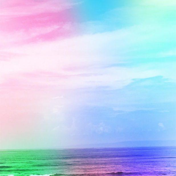 Laut berwarna iPhone7 Plus Wallpaper