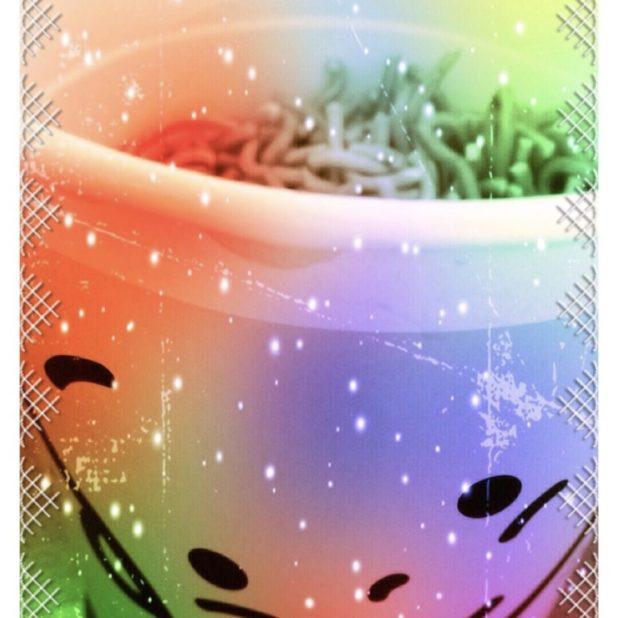 Ramen penuh warna iPhone7 Plus Wallpaper