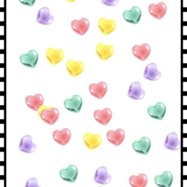 Hati berwarna iPhone7 Plus Wallpaper