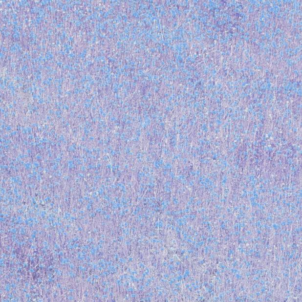 Landscape taman bunga biru ungu iPhone7 Plus Wallpaper