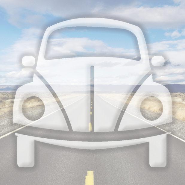 jalan mobil lanskap Biru iPhone7 Plus Wallpaper