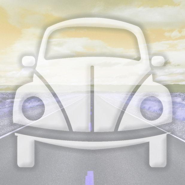 jalan mobil lanskap kuning iPhone7 Plus Wallpaper