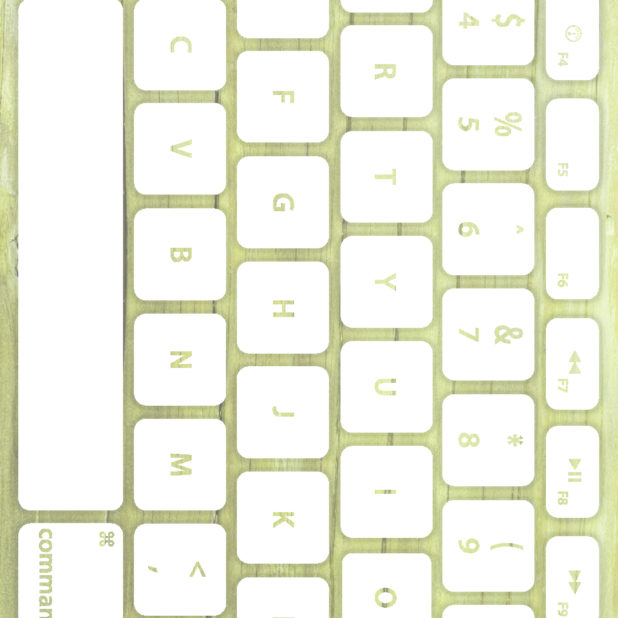 Keyboard tekstur kayu Kuning-hijau putih iPhone7 Plus Wallpaper