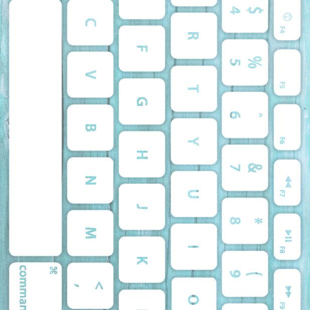 Keyboard tekstur kayu putih pucat iPhone7 Plus Wallpaper