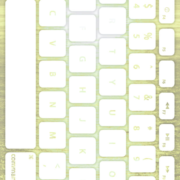 Keyboard laut Kuning-hijau putih iPhone7 Plus Wallpaper