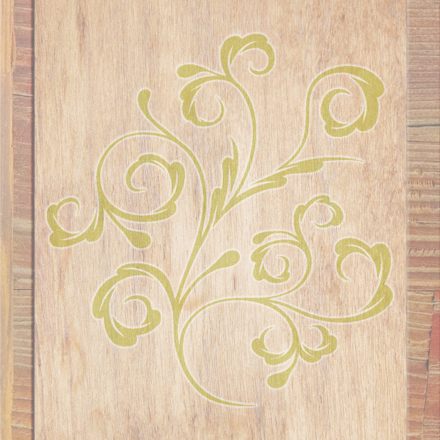 daun biji-bijian kayu Brown kuning hijau iPhone7 Plus Wallpaper