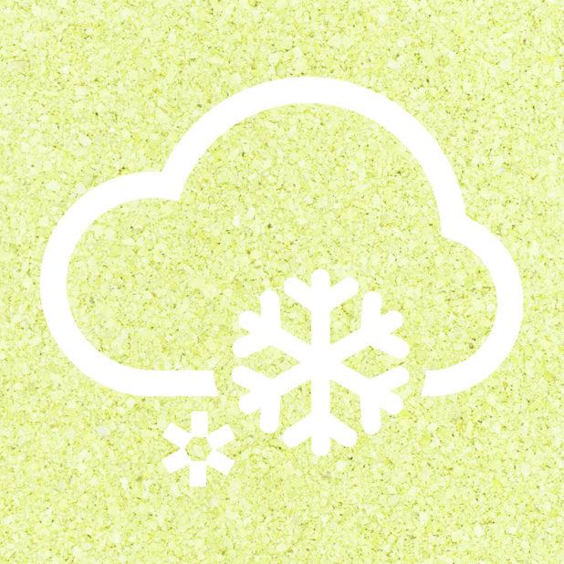 Cuaca berawan Kuning hijau iPhone7 Plus Wallpaper
