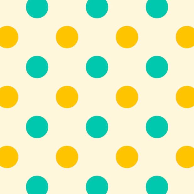 polka dot kuning hijau iPhone7 Plus Wallpaper