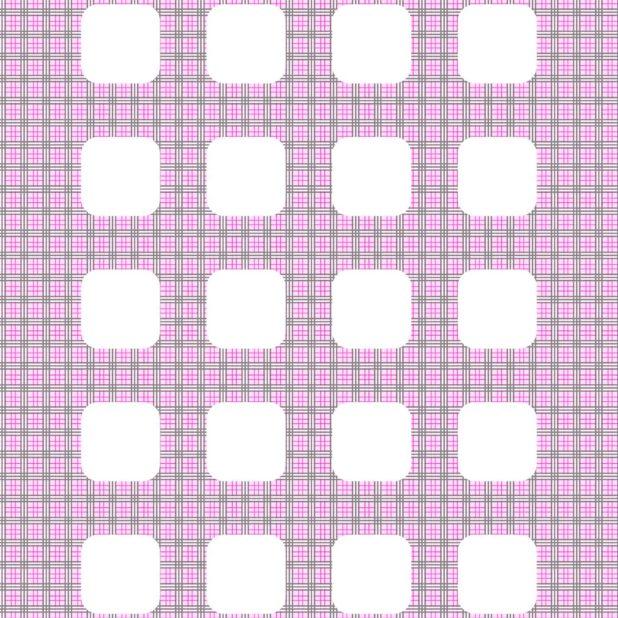 Periksa pola merah muda hai rak iPhone7 Plus Wallpaper
