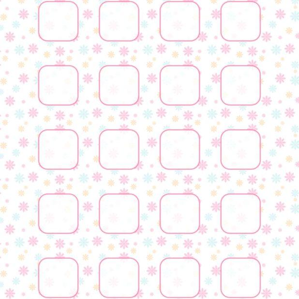 bunga pola rak merah muda untuk anak perempuan iPhone7 Plus Wallpaper