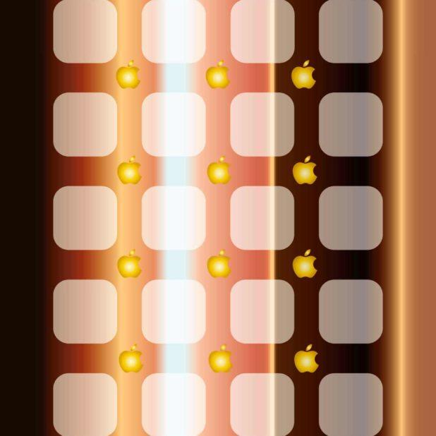 Keren rak apel emas teh dan perak iPhone7 Plus Wallpaper