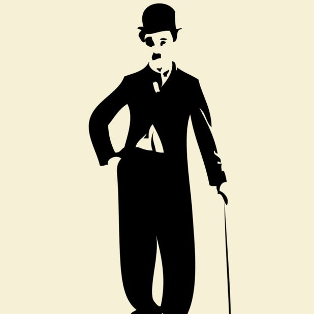 Ilustrasi Chaplin kuning iPhone7 Plus Wallpaper