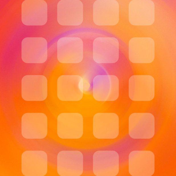 Keren pola rak oranye iPhone7 Plus Wallpaper