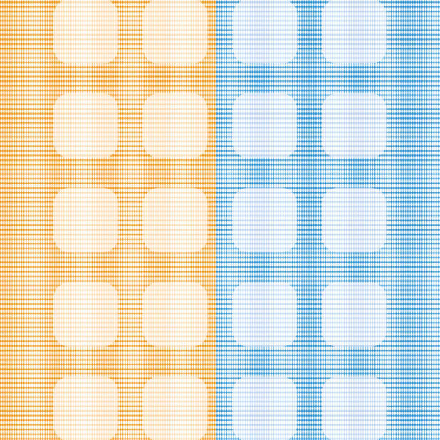 Pola oranye rak biru kuning iPhone7 Plus Wallpaper