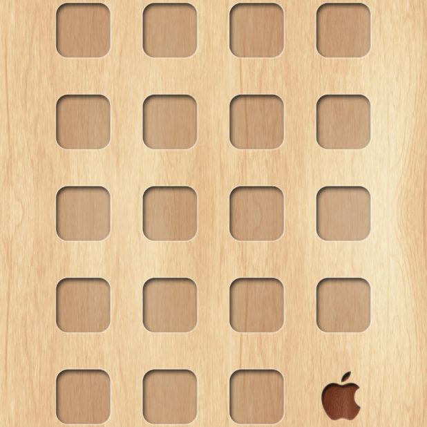 rak Kayu piring teh kuning logo Apple iPhone7 Plus Wallpaper