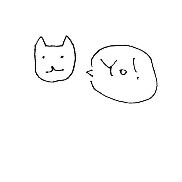 Ilustrasi kucing putih Yo! iPhone7 Plus Wallpaper