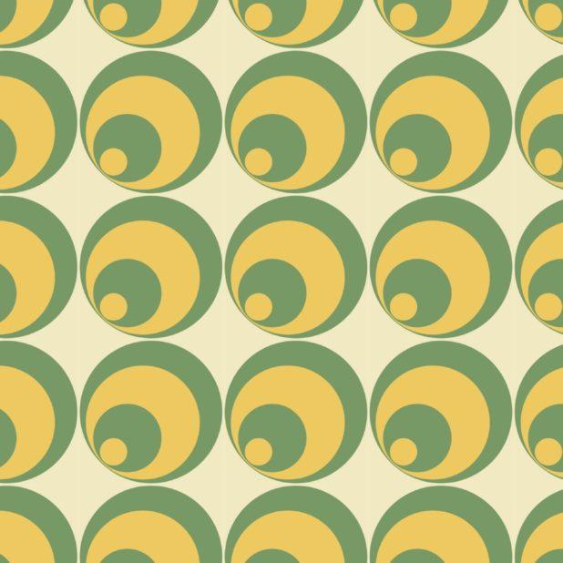 lingkaran pola kuning hijau iPhone7 Plus Wallpaper