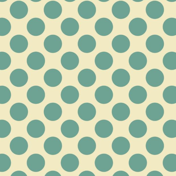 Pola polka dot hijau dan kuning iPhone7 Plus Wallpaper