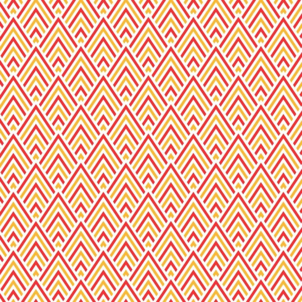Pola segitiga merah oranye iPhone7 Plus Wallpaper