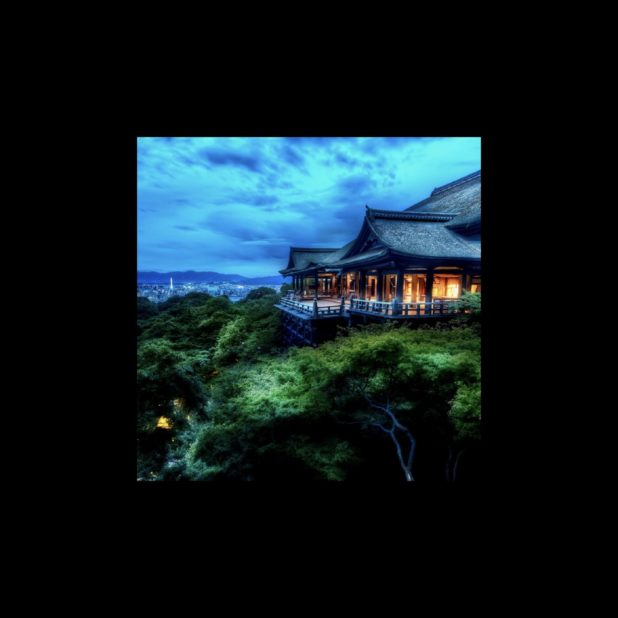 pemandangan Kiyomizu Candi hijau iPhone7 Plus Wallpaper