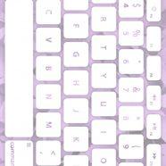 Keyboard daun ungu putih iPhone8 Wallpaper