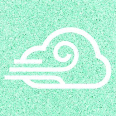 angin berawan Biru hijau iPhone8 Wallpaper