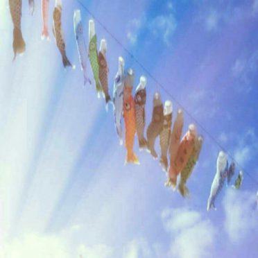 Carp streamer langit iPhone8 Wallpaper