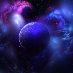 宇宙青紫の iPad / Air / mini / Pro 壁紙