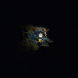 風景月黒光の iPad / Air / mini / Pro 壁紙