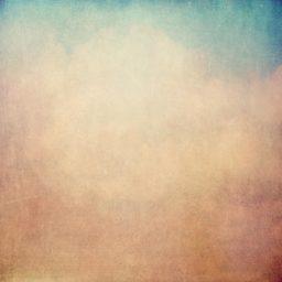 ぼかし青橙絵の iPad / Air / mini / Pro 壁紙