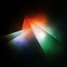 イラスト赤青緑黒クールの iPad / Air / mini / Pro 壁紙
