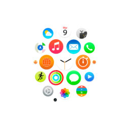 Apple Watch風白の iPad / Air / mini / Pro 壁紙