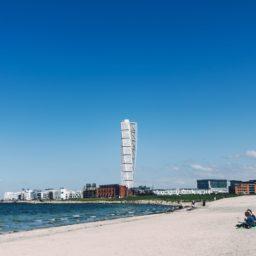 風景海砂浜ビルの iPad / Air / mini / Pro 壁紙