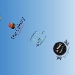 模様ロゴ青の iPad / Air / mini / Pro 壁紙