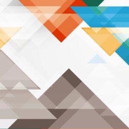 模様三角形白青赤の iPad / Air / mini / Pro 壁紙