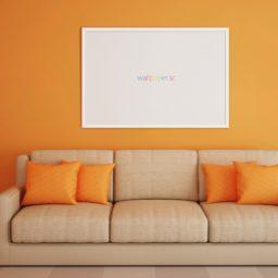 インテリアソファー橙 wallpaper.scの iPad / Air / mini / Pro 壁紙