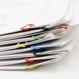 カラフル書類紙の iPad / Air / mini / Pro 壁紙